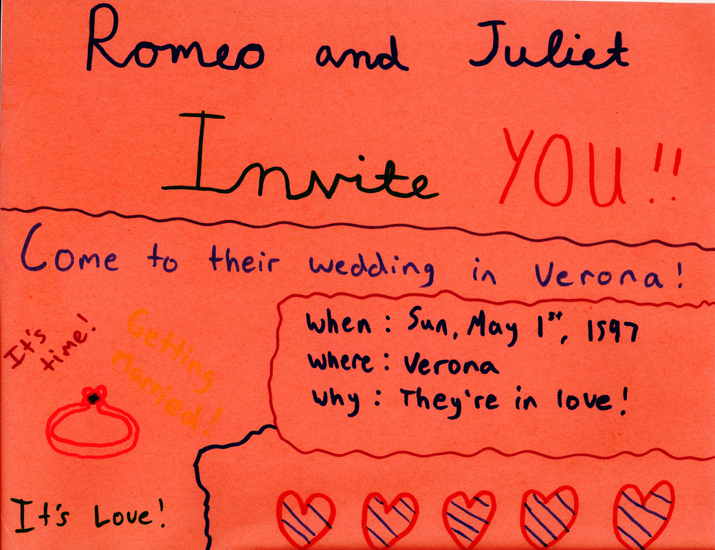 Wedding Invite - romeo and juliet multi-genre project
